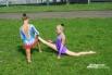 Гимнастки готовятся к выступлению перед зрителями