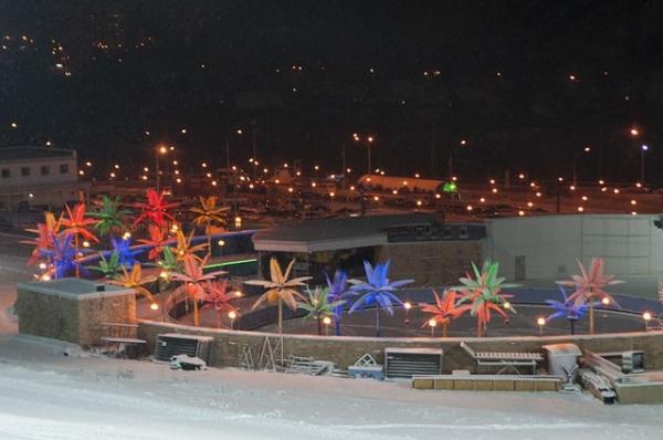 Бобровый лог в день Эстафеты Олимпийского огня.