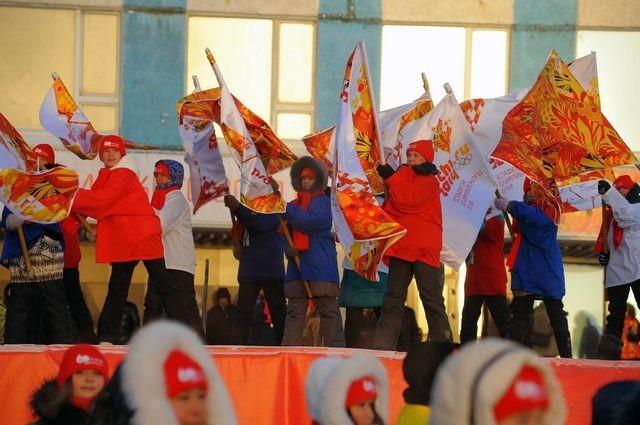 Олимпийский огонь в Норильске, 7 ноября