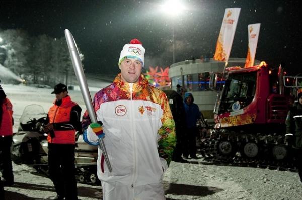 Олимпийский огонь в Красноярском крае.