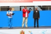 Глава Железнодорожного района Леонид Беглюк поздравляет всех гостей праздника с Днем физкультурника