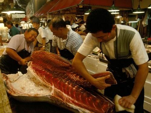Хозяйки для приготовления стали чаще покупать импортную рыбу, например, из Норвегии – она там, кстати, дешевле, чем  японская