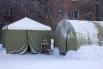В палатках тепло и чисто