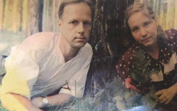 Александр Каптаренко с женой Маргаритой, 1960-е годы, Мочище