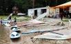 Виндсёрфинг (от англ. wind (ветер) и «сёрфинг») — вид парусного спорта и водного развлечения