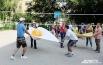 Е. Топоркова:  «И вот выездном фестивале «Творец» в прошлом году мы-таки сыграли в простынбол участниками»