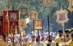 Во главе крестного хода шли священники Новосибирской митрополии