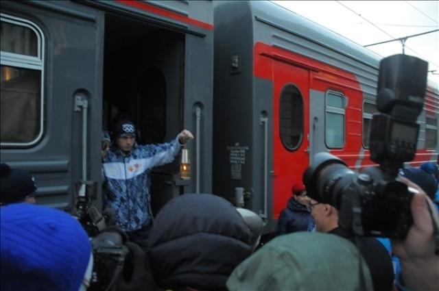 Огонь прибыл в Новосибирск из Барнаула