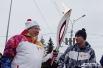 Полпред Президента в СФО Виктор Толоконский пронес факел Олимпиады по Красному проспекту