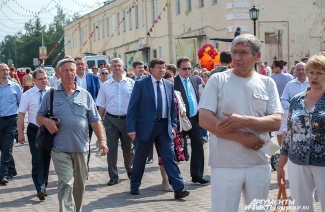 Мэр Омска Вячеслав Двораковский просто не мог пропустить это событие.