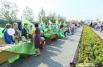 Здесь же была организована торговля для садоводов.