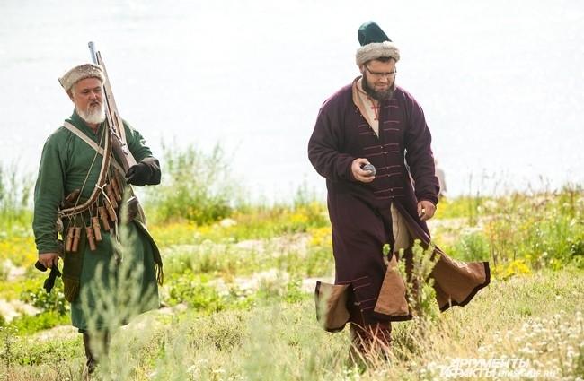 Репетицию штурма проводили на берегу реки Иртыш у Омской крепости.