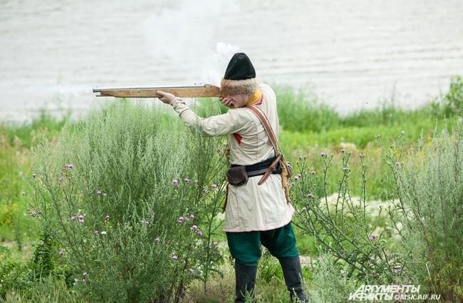 Стрельба из ручницы - нелёгкий труд.