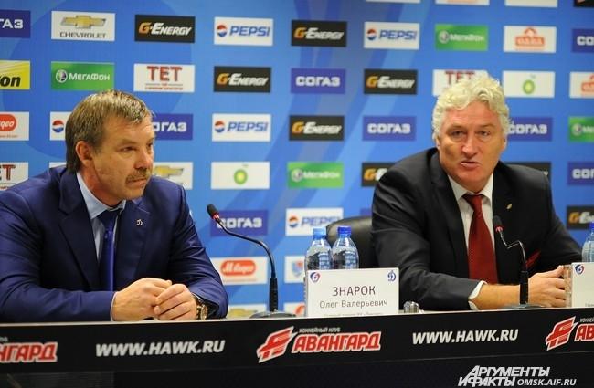 Пресс-конференция  тренеров хоккейных команд.