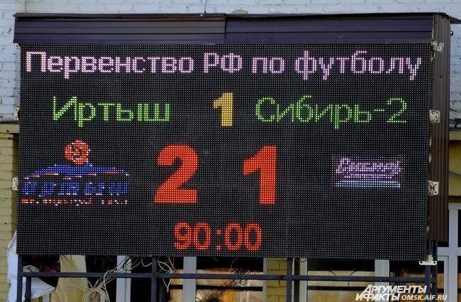 """Футбольный матч """"Иртыш"""" - """"Сибирь-2""""."""