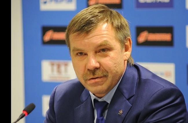 "Олег Знарок - теренр ХК ""Динамо"" (Москва)."