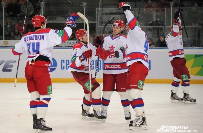 Шестое поражение подряд омскому «Авангарду» нанес ЦСКА.