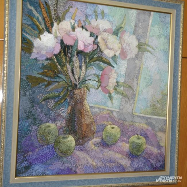 Картины из жженого шелка Людмилы Васильевой