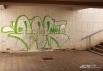 Подземный переход - традиционное место для граффити.