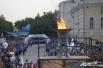 Площадь на Беловке, где установлена городская чаша огня Универсиады