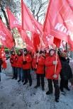 Партийная колонна начинает шествие