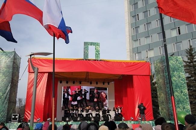 Митинг сторонников Путина