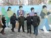 Все фотографировались у стены, посвящённой великой ливерпульской  «четвёрке»
