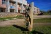 Деревянная кульптура под открытым небом
