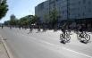 Велосипедисты проехали колонной по улице Ленина