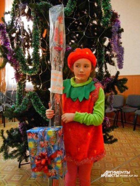Даша Попова очень рада новым лыжам