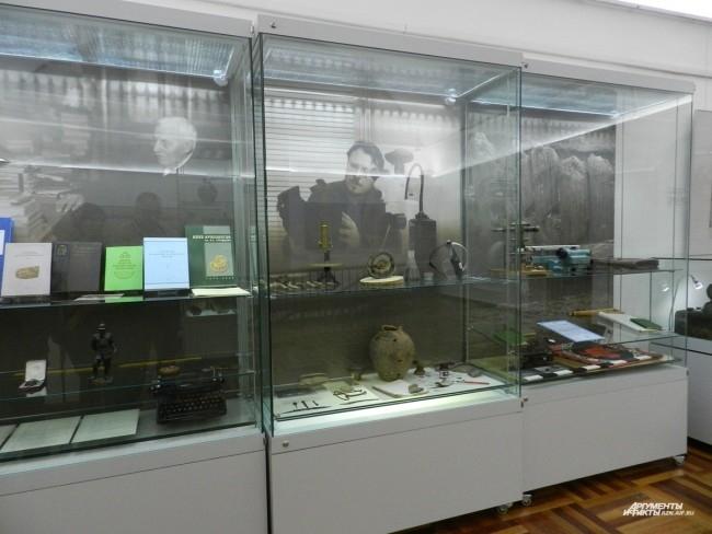 Стенд, посвященный археологам, работавшим на раскопках Переяславля Рязанского