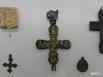 Крест-энколпион из цветного металла, 14 - 15 век