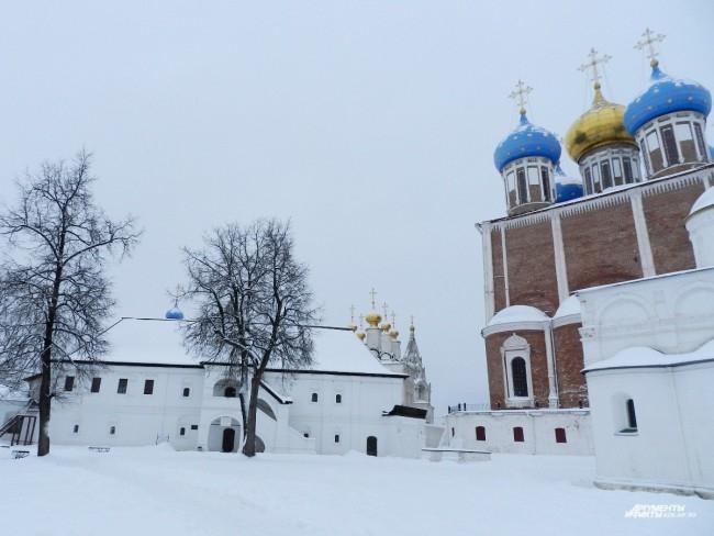 На территории Рязанского кремля