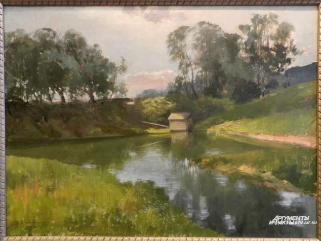 Орлов А., Плотина у Рюминой рощи в Рязани, 1916