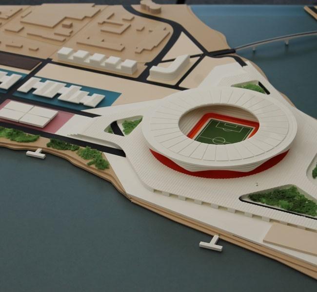 Макет будущего стадиона