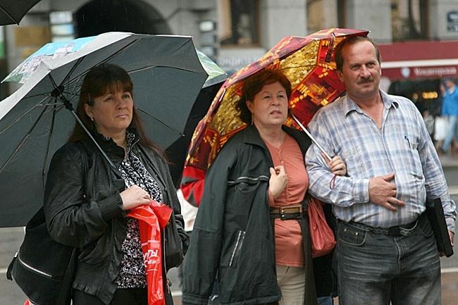 Зрители на Невском проспекте