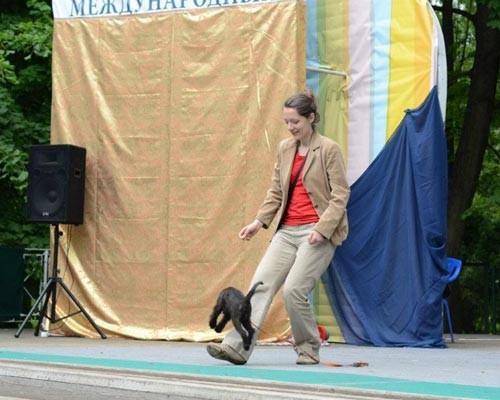 "Корреспондент ""АиФ-Петербург"" со своим питомцем на фестивале."