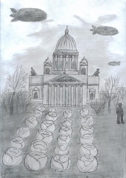 Рябова Таня. Капуста у Исакиевского собора