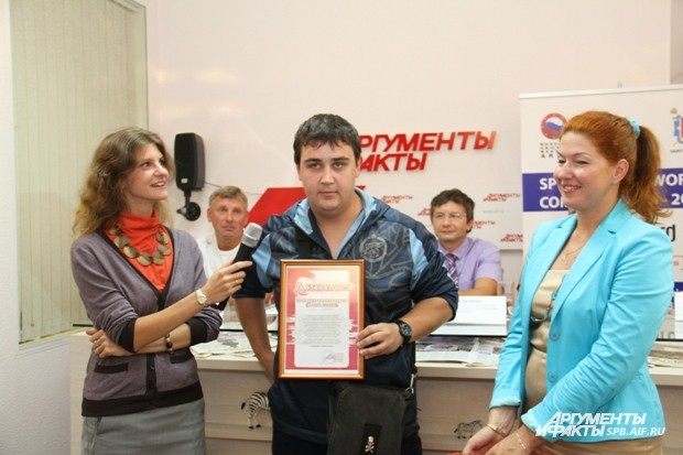 Олег Юркевич, победитель конкурса, любитель велоспорта и тяжелой атлетики