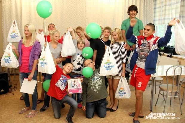 Ребята получили подарки от ЗАО «Кондитерское объединение «Любимый край