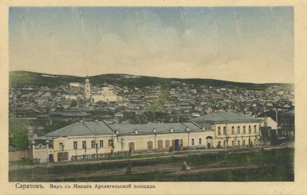 Вид с колокольни церкви на улицу Челюскинцев. Церковь была на месте многоэтажки с библиотекой на Московская/Октябрьская