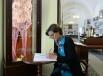 Супруга Председателя Совета министров Италии Джанна Летта во время посещения Академии русского балета имени А.Вагановой