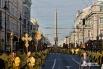 Крестный ход преодолел Площадь Восстания, после чего проследовал до Площади Александра Невского