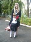 ученица школы № 14 с мамой