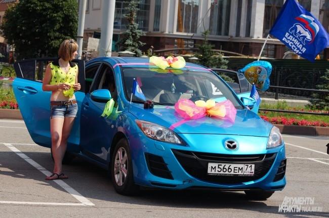 На площади Ленина также прошёл фестиваль «Автоледи»