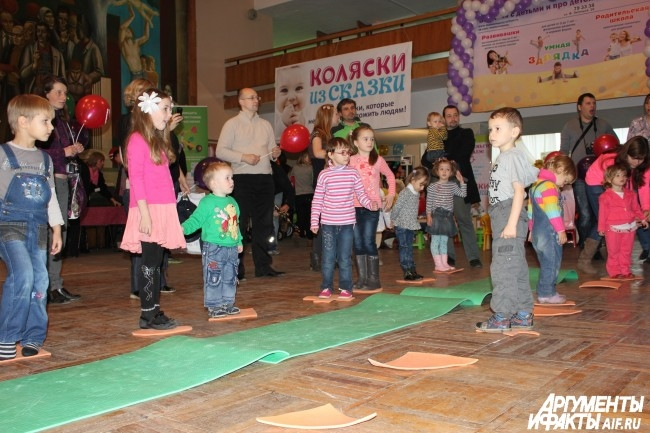 Дети весело включались в игры и конкурсы