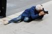 Пока шла выставка, русские фотографы «охотились» на парижан.