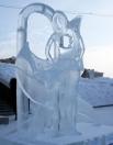 Скульптура «Утрата». Женщина со сквозной раной вместо сердца символизирует Россию в момент расстрела Царской Семьи.