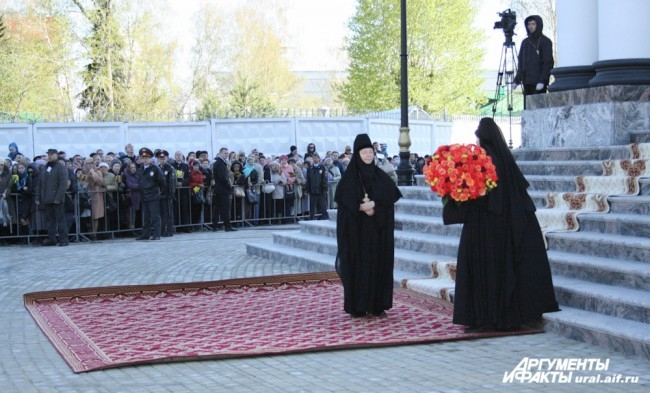 В ожидании прибытия Главы Русской православной церкви.