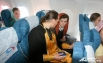 Паломники имели возможность исповедоваться прямо на борту самолета, выполняющего чартерный рейс «Екатеринбург – Тель-Авив.